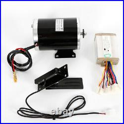 1000W 48V DC electric motor kit withbase speed controller&Foot Pedal Throttle US