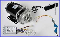 1000W 48 V DC GEAR Reduction electric motor+Rev Controller+Foot Throttle+KeyLock