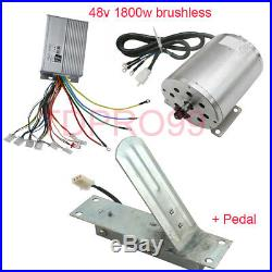 1800W 48V Brushless Electric Motor Speed Controller Go Cart Throttle Foot Pedal