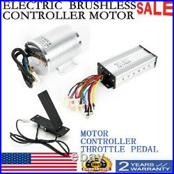 1800W 48V Brushless Electric Motor Wire Controller Throttle with Foot Pedal NEW