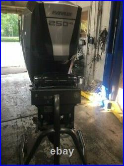 2015 Evinrude 250 HP G2 380 Hrs 20 controls, ss prop, foot pedal, power lift clean