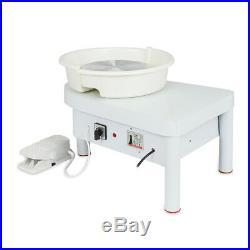 250W 110V Electric Pottery Wheel Ceramic Machine Foot Pedal + Hand Control Clay