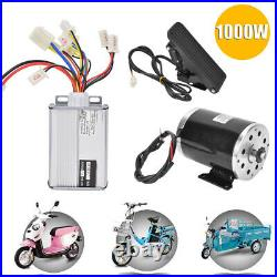 48V/1000W DC Electric Scooter Brush Motor Speed Controller+Foot Pedal Throttle