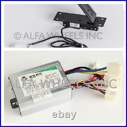 500W 24V kit speed controller & Foot-Pedal Throttle f electric motor goKart DIY