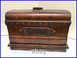 Antique New Home Sewing Machines withOriginal Case & Foot Control Pedal
