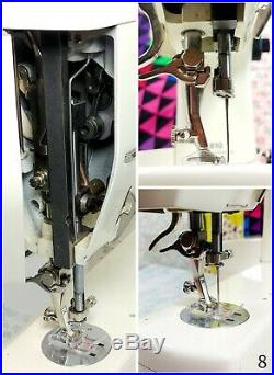 Bernina 810 810E Cams Good+ WORKING withFoot Pedal, Cord, Tray, Plaid Cover, Instr