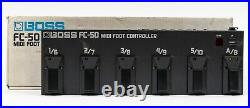 Boss FC-50 MIDI Foot Controller Pedal with Box