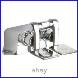 Chicago Faucets 625-ABCP Chrome Double Foot Floor Sink Pedal Box Controls
