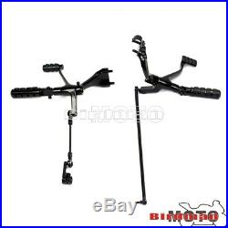 Foot Pegs Forward Controls Footrests Pedal For Sportster 883 Iron XL883N 2009-13