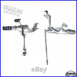 Front Chrome Forward Controls Foot Pegs Pedals For Harley Sportster XL 1200 883