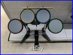 Harmonix Rock Band 822148 Wired PS2 PS3 PS4 Drum Set With Foot Kick Pedal Tested