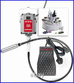 Jewelers Kit with 1/6 hp SR Motor, FCH-2 Plastic Foot Pedal Speed Control with Nor
