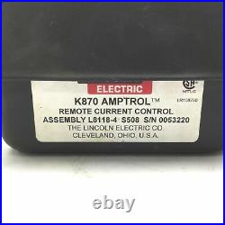 Lincoln Electric K870 Amptrol Remote Output Control Pedal For TIG Welder 6-Pin