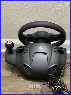 Logitech Driving Force GT E-X5C19 Steering Wheel Foot Pedals PS2 PS3 PC Tested