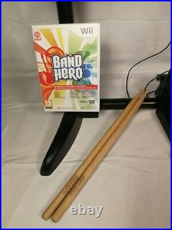 Nintendo Wii Band Hero Game & Drums Set Complete with Foot Pedal & Sticks TESTED