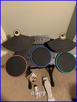 PS3 Playstation 3 Guitar Hero World Tour Game+Drums+Foot Pedal+Mic (No dongle)