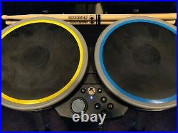 Rock Band 4 Wireless Drum Set Xbox One with Foot Pedal & Drumsticks Works Great