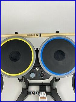 Rock Band 4 Wireless Drums Xbox One Foot Pedal Sticks Harmonix 91162 Tested