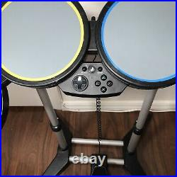 Rock Band Wired USB Drum Set Playstation PS2/PS3/PS4 & Foot Pedal & Mic- Tested