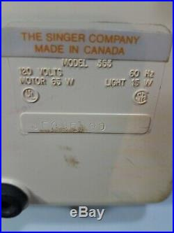 Singer Genie 353 Sewing Machine with dust cover/travel case and foot pedal, works