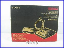 Sony BMT-840T Microcassette Transcriber With Foot Control & Headset-Working