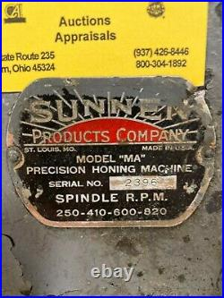 Sunnen Precision Honing Machine, Model # MA, Foot Pedal Controlled