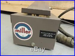 Vtg Miller Heliarc RFC-50A Foot Pedal Switch Control 14 Pin Cable Welder Welding