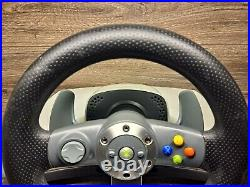 Xbox 360 Steering Wheel, Mounting Bracket & Foot Pedals Forza/Need4Speed Game